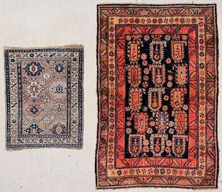"""2 Caucasian Rugs: 3'4"""" x 5'1"""" (102 x 155 cm)"""