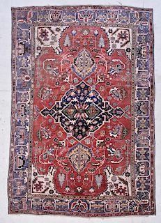 "Antique Oushak Rug: 8'5"" x 12'6"" (257 x 381 cm)"