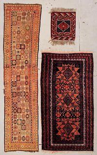 3 Vintage Afghan Rugs