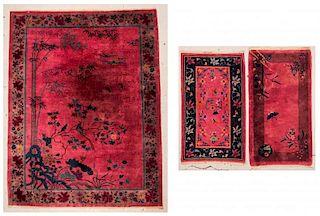 3 Chinese Art Deco Rugs