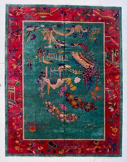 "Chinese Art Deco Rug: 9' x 11'7"" (274 x 353 cm)"