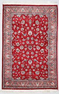 """Tabriz Style Rug: 4'2"""" x 6'5"""" (125 x 195 cm)"""