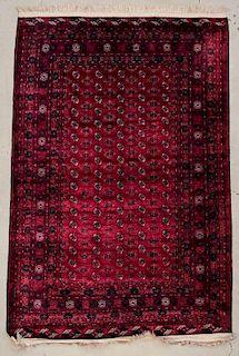 """Afghan Bokhara Silk/Wool Rug: 6'7"""" x 9'11"""" (201 x 302 cm)"""