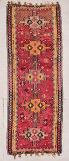 """Turkish Kilim: 4'7"""" x 12'3"""" (140 x 373 cm)"""