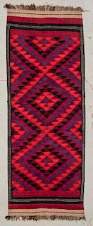"Afghan Kilim: 4'6"" x 11'11"" (137 x 363 cm)"