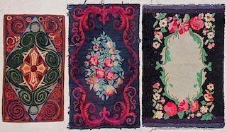 3 Vintage American Hooked Rugs