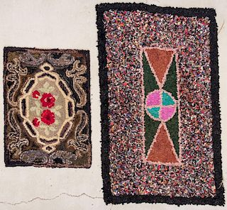 2 Antique American Hooked Rugs