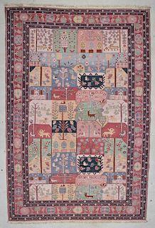 "Modern Handwoven Sumakh Rug: 9'1"" x 13'6"" (277 x 412 cm)"