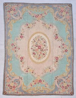 """Old American Hooked Rug: 8'8"""" x 11'9"""" (264 x 358 cm)"""