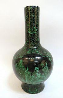 Kangxi Style Verte Vase