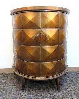 Modern Bureau In Textured Brown