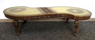 """Carved """"S"""" Shaped Coffee Table"""