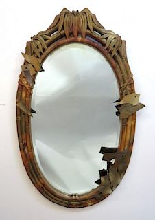 Mirror With Bamboo Style Frame