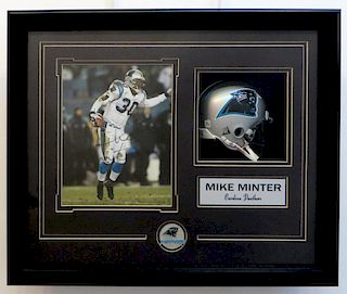Framed Mike Minter Football Memorabilia