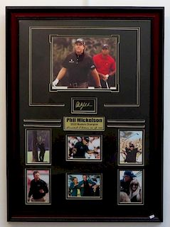 Limited Edition Phil Mickelson 2010 Masters Champion Plaque