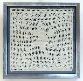 Framed Textile Doily