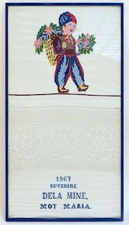 Framed Hungarian Textile Art
