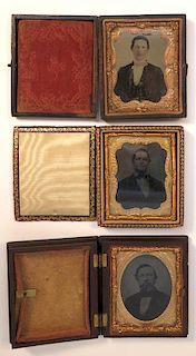 Three Degeurotype Or Tintype Photos