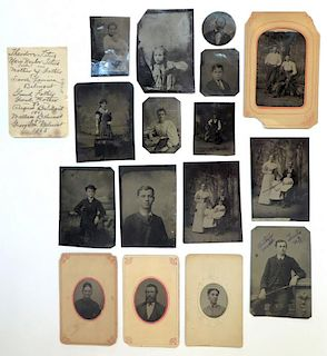 Collection Of Degeorotype Or Tintype Pictures