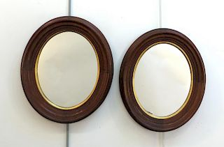 Oval Walnut Mirrors