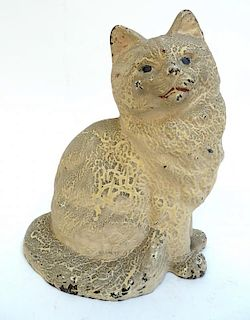 Cast Iron Cat Doorstop.