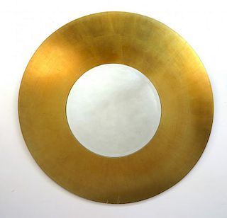 Round Mirror With Gold Toned Frame