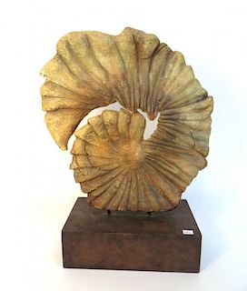 """Nautilus Shell"" Modern Sculpture"