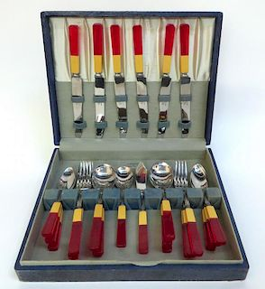Art Deco Vintage Bakelite Flatware Set