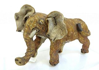 Ceramic Elephant Sculpture