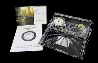 Waterford Card & Clock Set