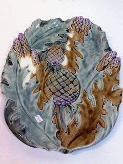 Glazed Ceramic Asparagus Decorated Plate