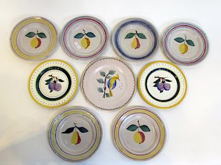 Nine Decorative Antique Plates