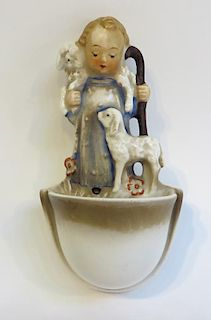 "Hummel Figurine: ""Shepherd Holy Water"""