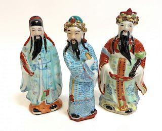 Three Chinese Wisemen Figures