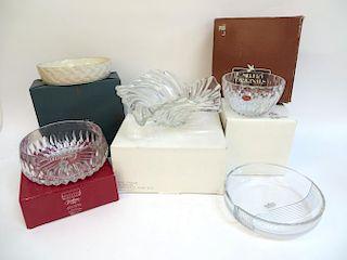 Five Fine Glass Ware Items