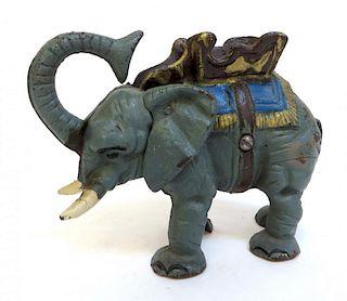Cast Iron Mechanical Elephant Bank