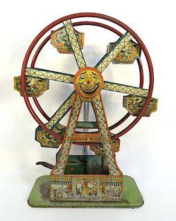 Ferris Wheel Wind Up Tin Toy