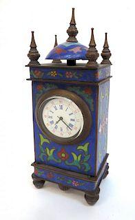 Cloisonne Desk Clock