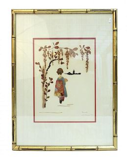 Asian Shadowbox Art By G. Barnes.