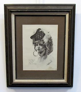 Signed James Russell Mardi Gras Print