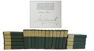 The Works Of John Galsworthy Signed By The Author