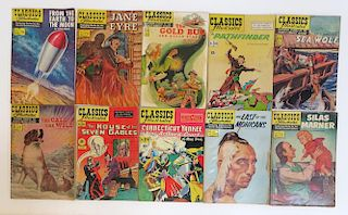 Ten Classics Illustrated Comic Books.