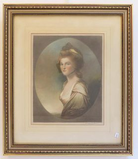 Portrait Print Signed Mezzotint (George C. James)
