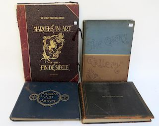 Four Antique Art Books