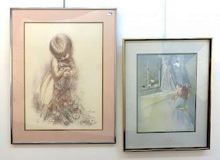 Three Framed Prints, One By Carolyn Blish