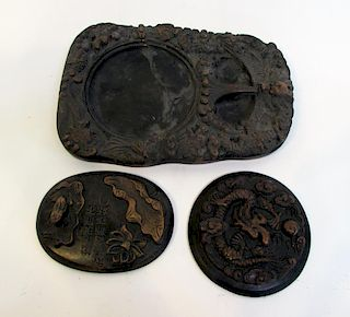 Inkstone With Lid And Rest
