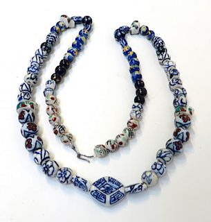 Chinese Necklace With Porcelain Beads