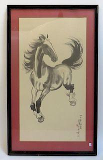 Framed Chinese Horse Print