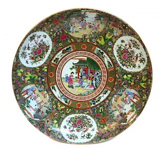 Chinese Rose Medallion Charger