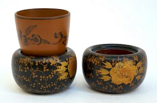Three Sake Cups